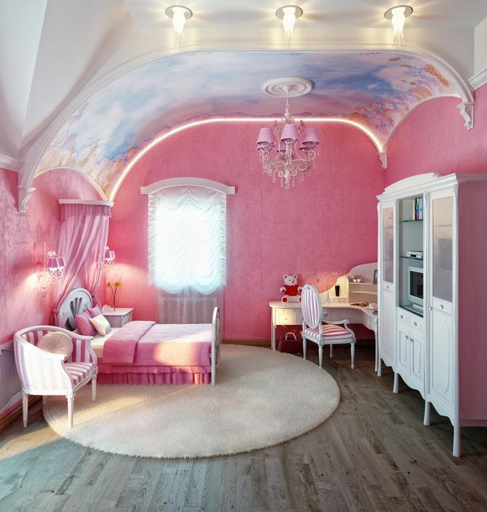 Фото розовой комнаты