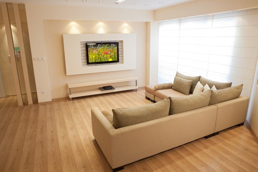 Дизайн стен под телевизор из гипсокартона