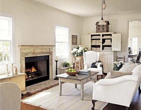 комната и потолки в стиле прованс.