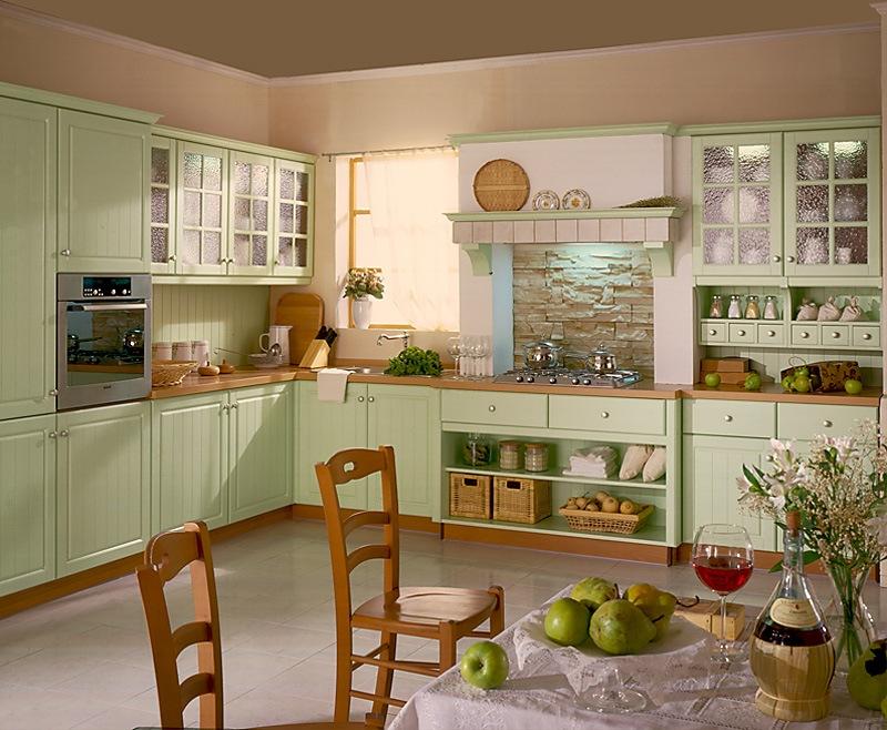 Кухня в стиле кантри мебель от