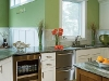 Зеленый цвет в кухне