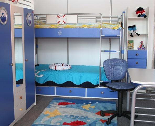 Морская тематика в детской комнате