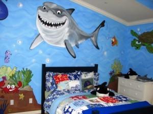 Художник-декоратор поможет создать неповторимую морскую комнату (с сайта cassidyclark.com)