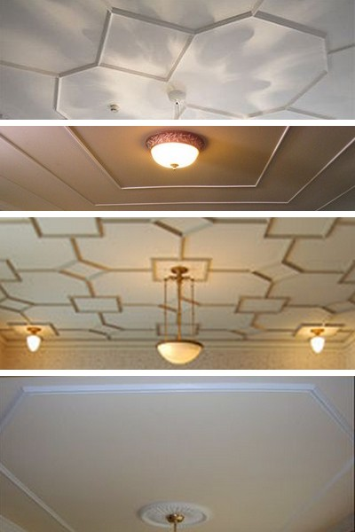 Молдинги на потолке