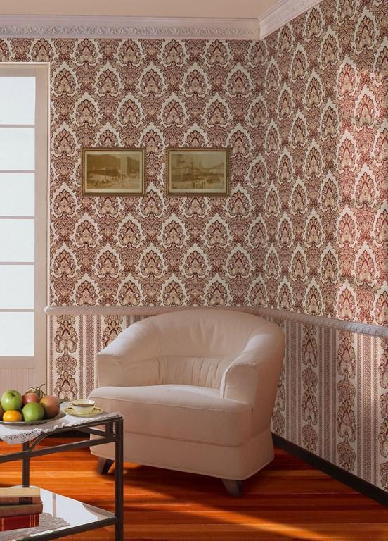 Отделка стен текстильными обоями Palace