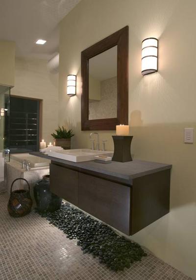 Галька в ванной