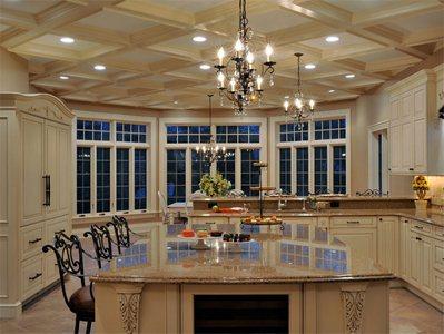 Оригинальный потолок на кухне