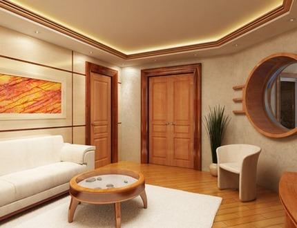 Дизайн гостиной в стиле минимализм, Домфронт