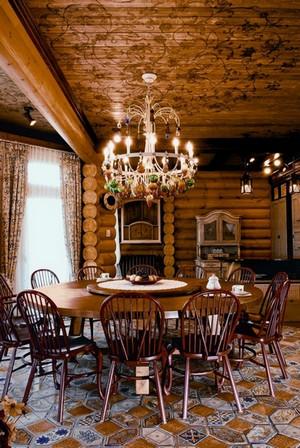 кухня-столовая в русском стиле