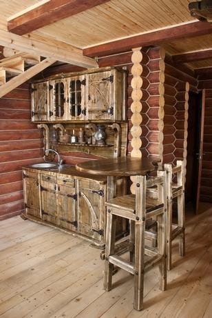 кухня в русском деревенском стиле
