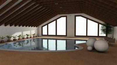 отделка помещения с бассейном