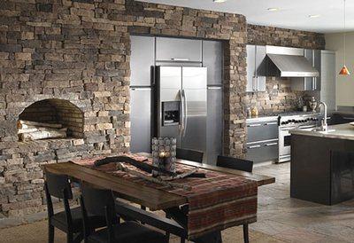 Кухонный фартук из камня особенно