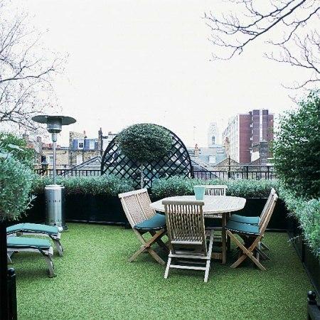 Сад на плоской крыше