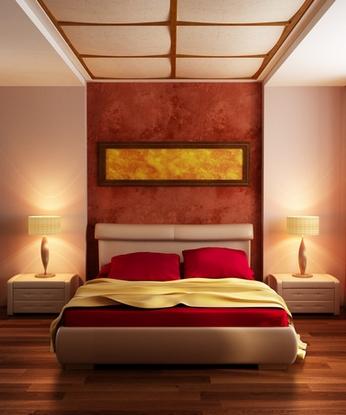 спальня модерн с японскими чертами