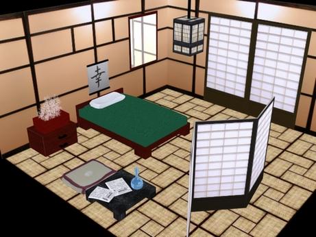 Планировка спальни в японском стиле
