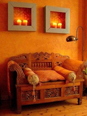 марокканский интерьер гостиной