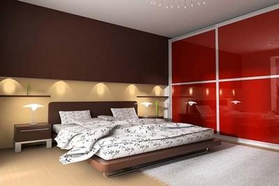 Спальня в стиле минимализм, Домфронт