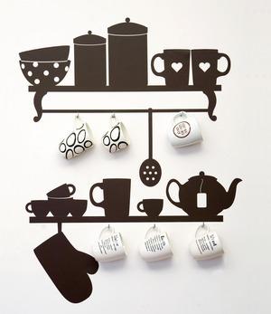 декор стен в кухне