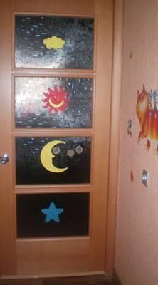 декор стен и дверей наклейками