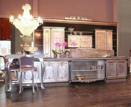 Интерьер в стиле барокко - кухня.