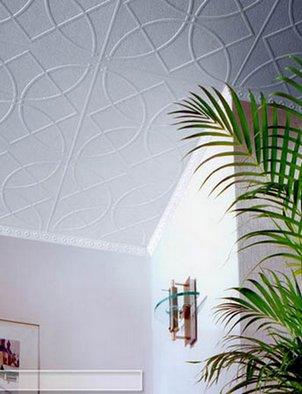 полистирольная плитка на потолке
