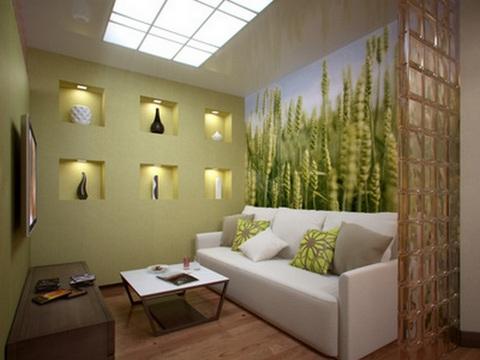 маленькая зеленая гостиная