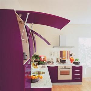 механизмы открывания кухонных фасадов