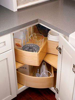 угловой стол на кухне