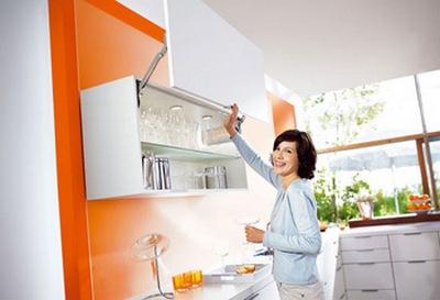 механизм открывания кухонных дверок