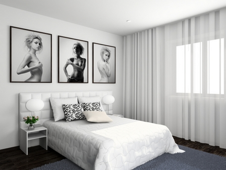Спальня в белом цвете дизайн фото