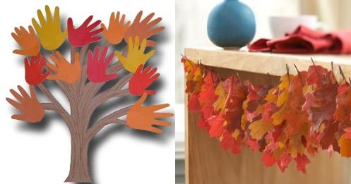 Осенний декор из листьев