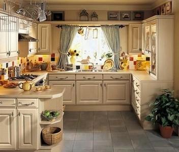 шторы кухня кантри