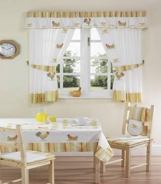 шторы для кухни в стиле кантри