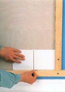 укладка плитки на стены: рейки