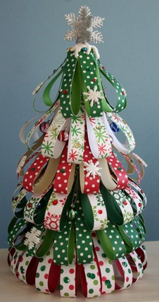 How do i decorate my christmas tree with ribbon