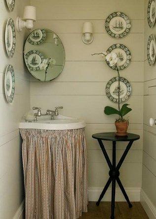 декор ванной в стиле кантри