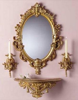 зеркало для гостиной в стиле барокко
