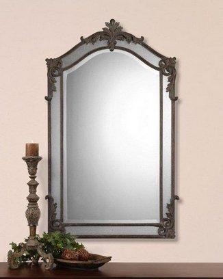 зеркало для гостиной с кованой рамой