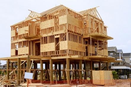как строят дома в америке