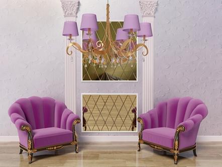 фиолетовый сочетается с серым и золотым