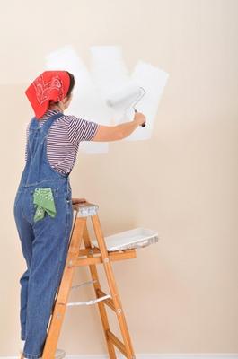 окраска стен технология