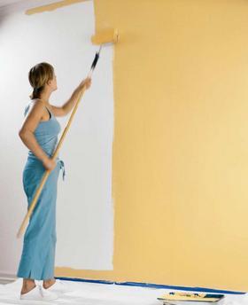 как красить стены