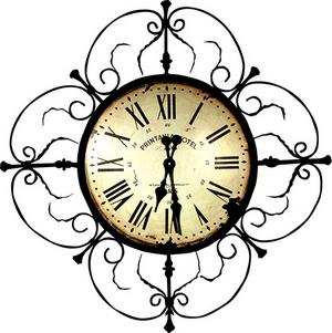 часы для кухни в стиле кантри и прованс