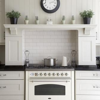 часы в классической кухне