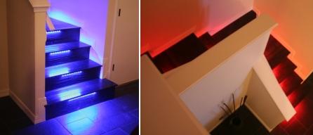 светодиодная подсветка ступенек