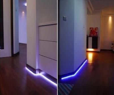светодиодная подсветка стены