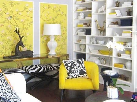 сочетание желтого серого белого черного