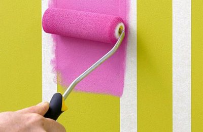 покраска стен полосками