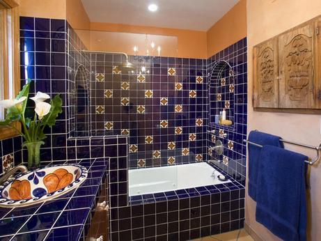 ванная в мексиканском стиле