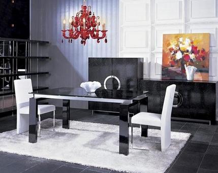 стеклянный стол с черной столешницей